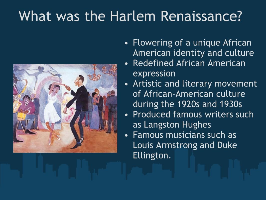 the renaissance and the harlem renassance 1 introduction approach and rationale t he harlem renaissance is one of over 60 national center for history in the schools teaching units that are the fruits of collaborations between history.