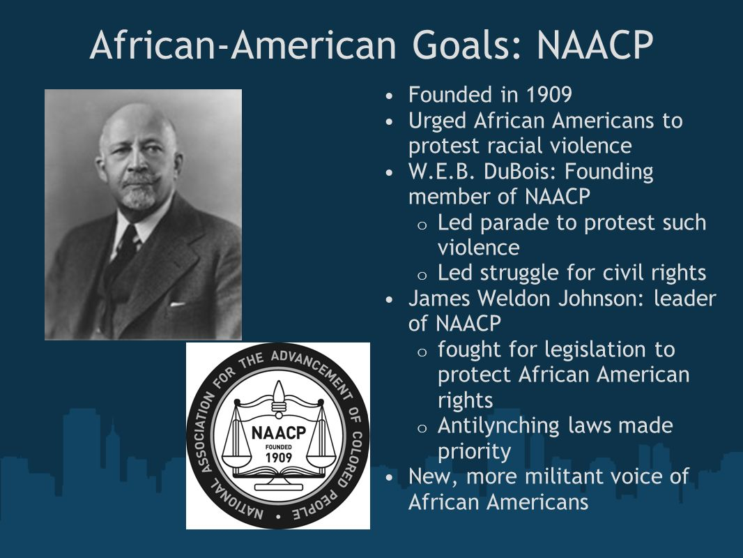 African-American Goals: NAACP