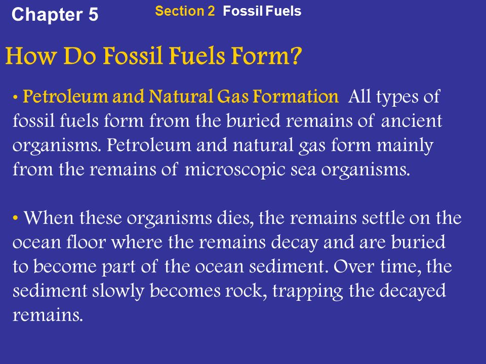 Chapter 5 Section 2 Fossil Fuels. - ppt video online download
