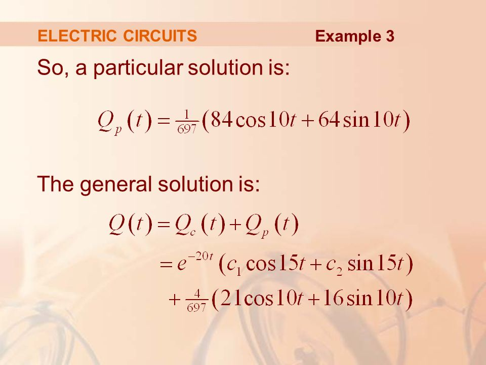 how to find particular solution from general solution differential equation