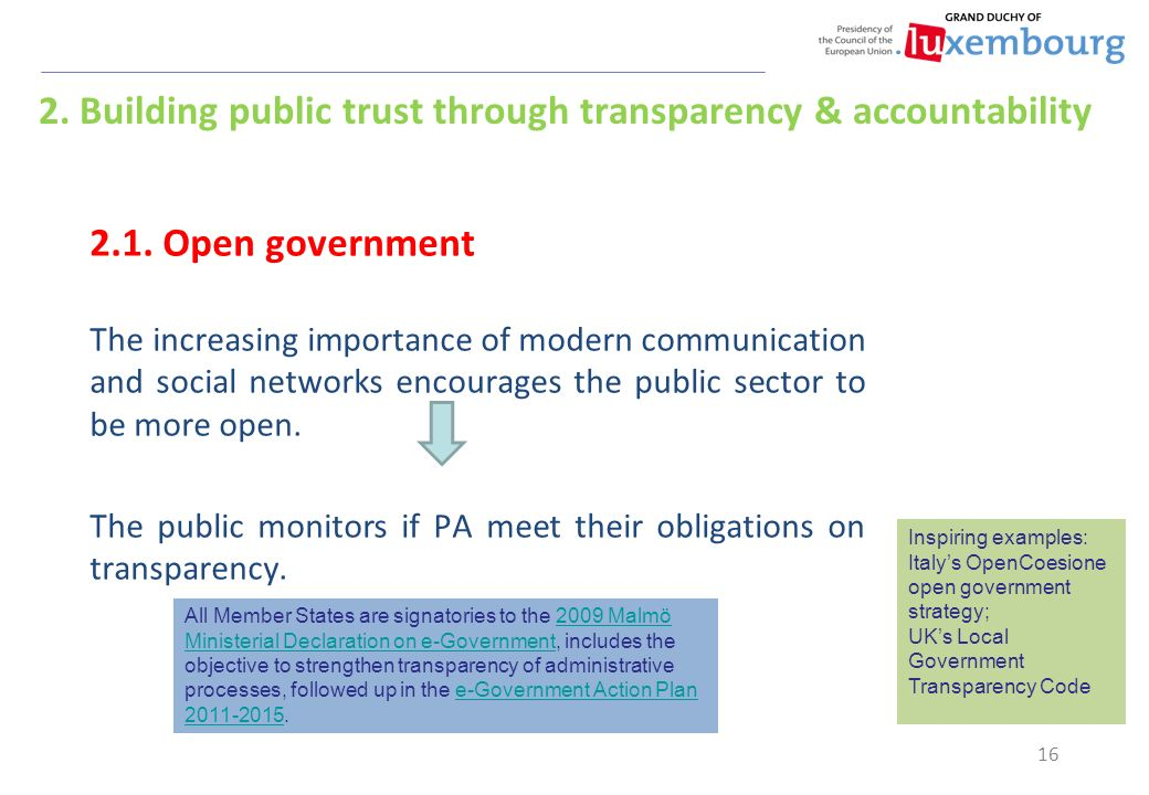 Government Transparency and Accountability