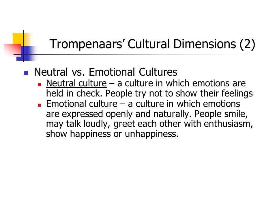 Trompenaars' Cultural Dimensions (2)