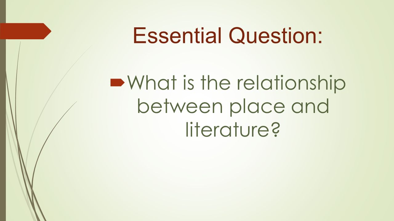 literature and place relationship marketing