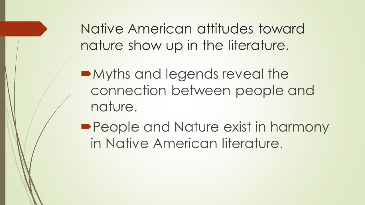the traditional euro american attitudes toward the natural world Dimitrov, nanda, east european women and the battle of the sexes in american culture (2004) great plains research: a journal of natural and social sciences 712.