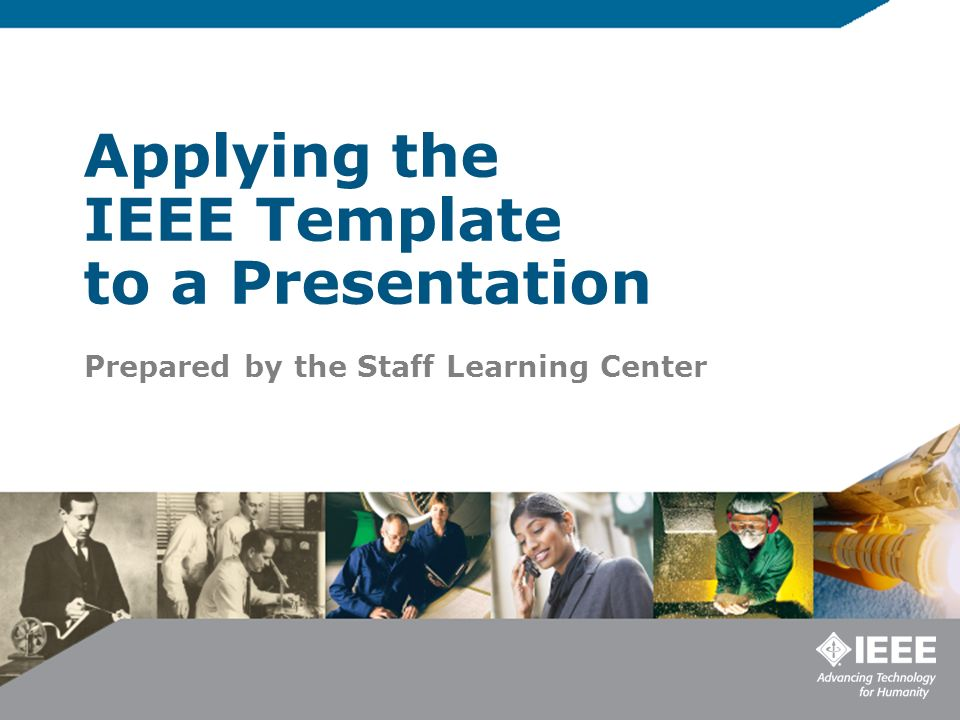 Ieee Template | Applying The Ieee Template To A Presentation Ppt Video Online Download