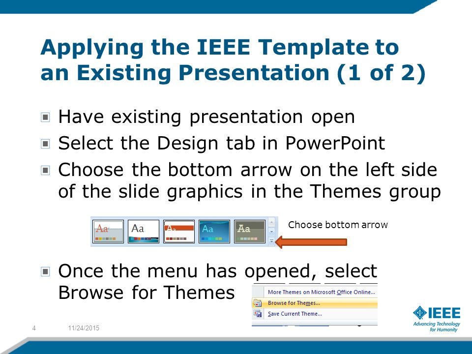 applying the ieee template to a presentation - ppt video online, Presentation templates
