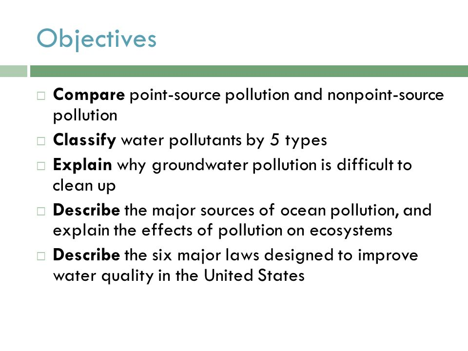 classify the types of environmental pollution essay What is pollution •pollution is the introduction of harmful substances or products into the environment •main types of pollution –water pollution.