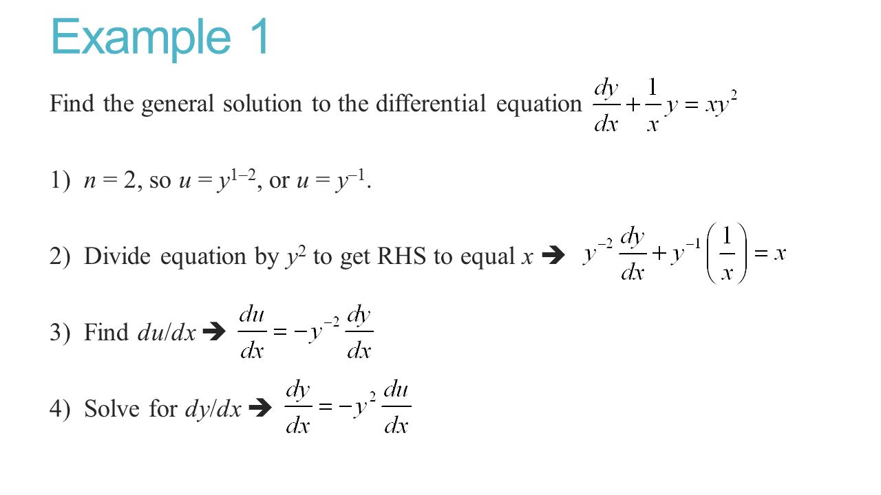 how to find the order of a differential equation