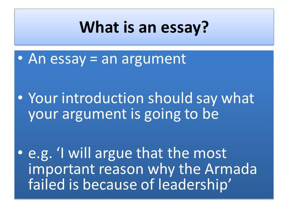 What is the most important aspect of an epic essay