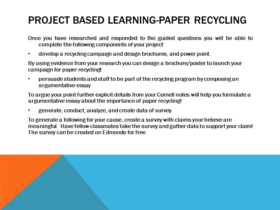 Write my recycling research paper
