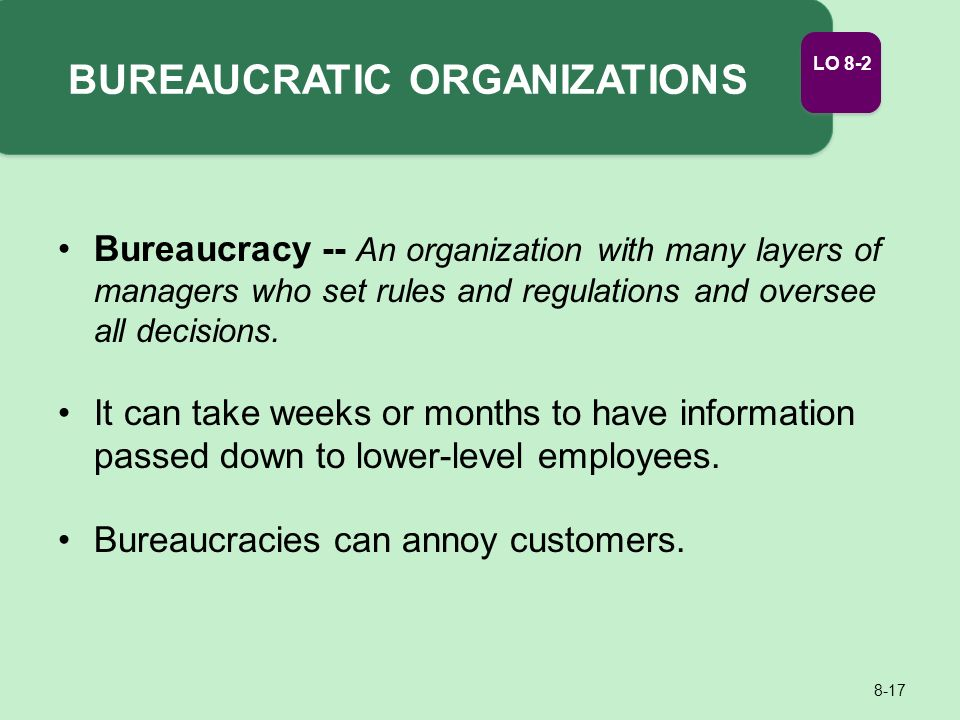 4 characteristics of bureaucracy
