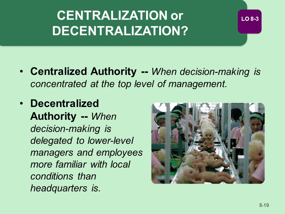 concentrated or decentralized manufacturing strategy All of these factors favor a concentrated versus a decentralized manufacturing strategy in terms of location, the company should consider three factors: country factors, technology factors, and product factors.
