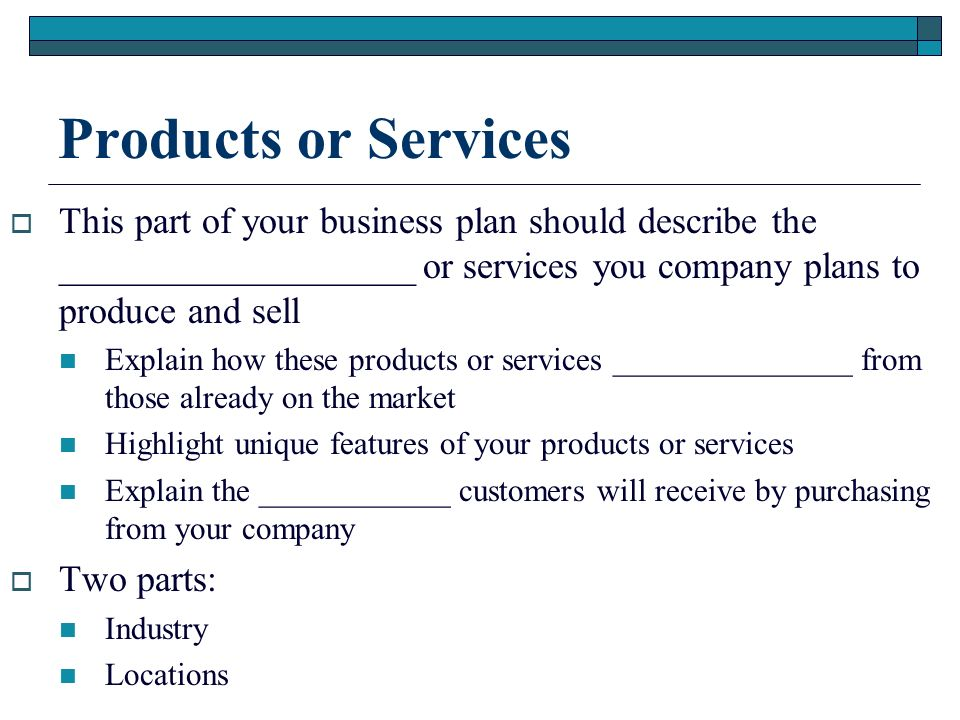 SERVICE INDUSTRY SAMPLE
