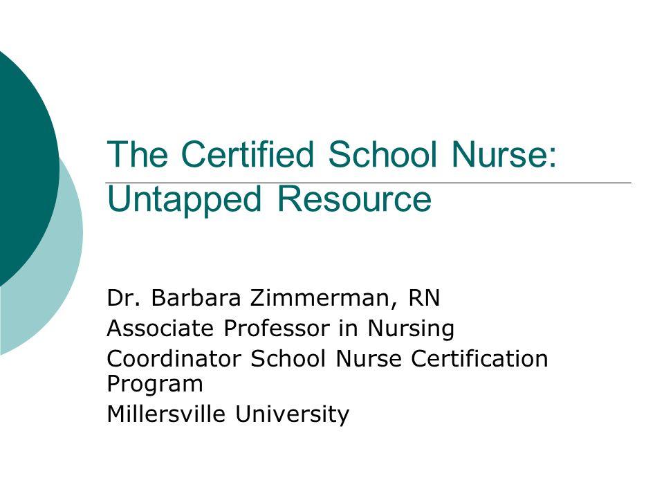 The Certified School Nurse Untapped Resource Ppt Video Online