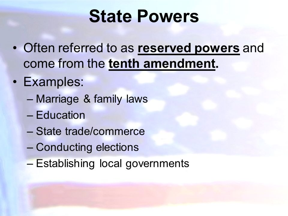 Applying the 10th Amendment - ppt video online download