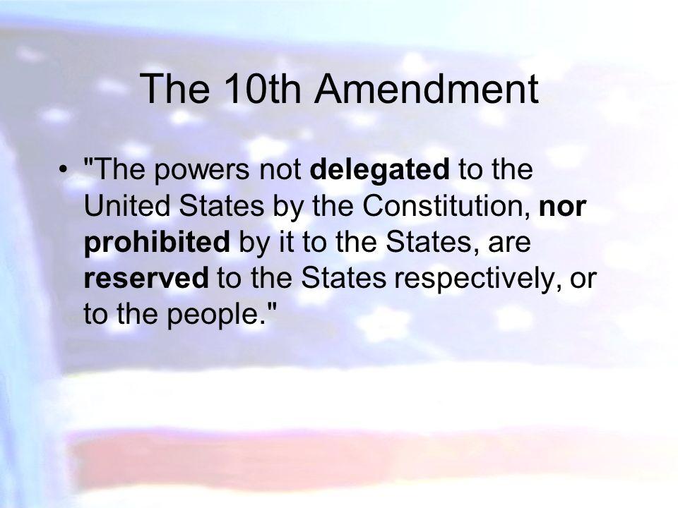 tenth amendment summary