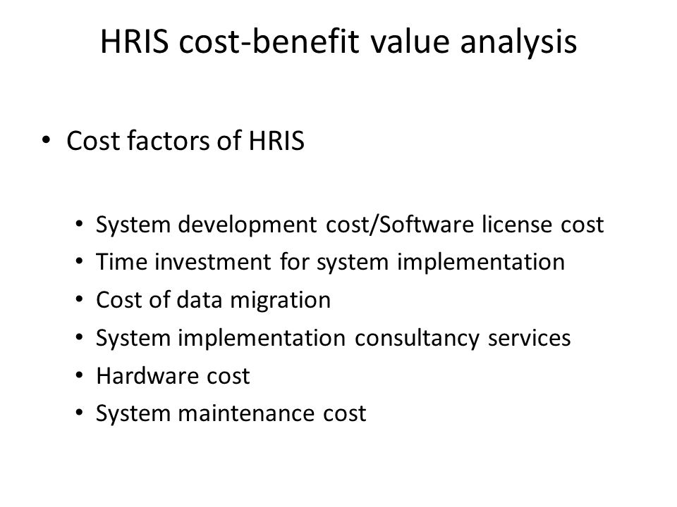 Hris The Strategic Value Ppt Video Online Download