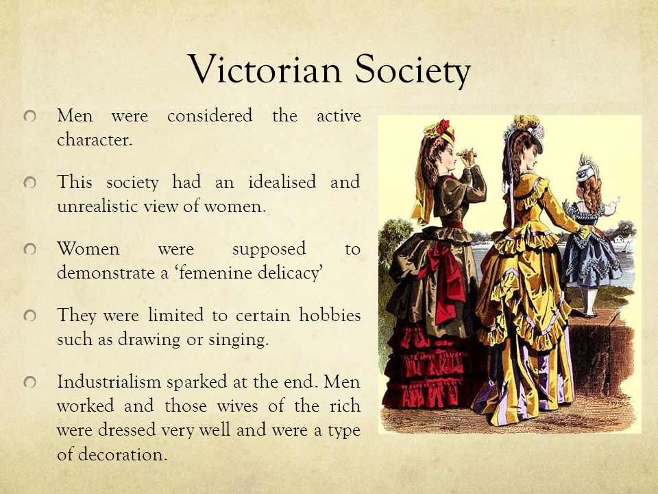 victorian society 2 essay Daughters of decadence: the new woman in the victorian fin de siècle  the new woman' for the title of her essay  role in victorian society was epitomised by .