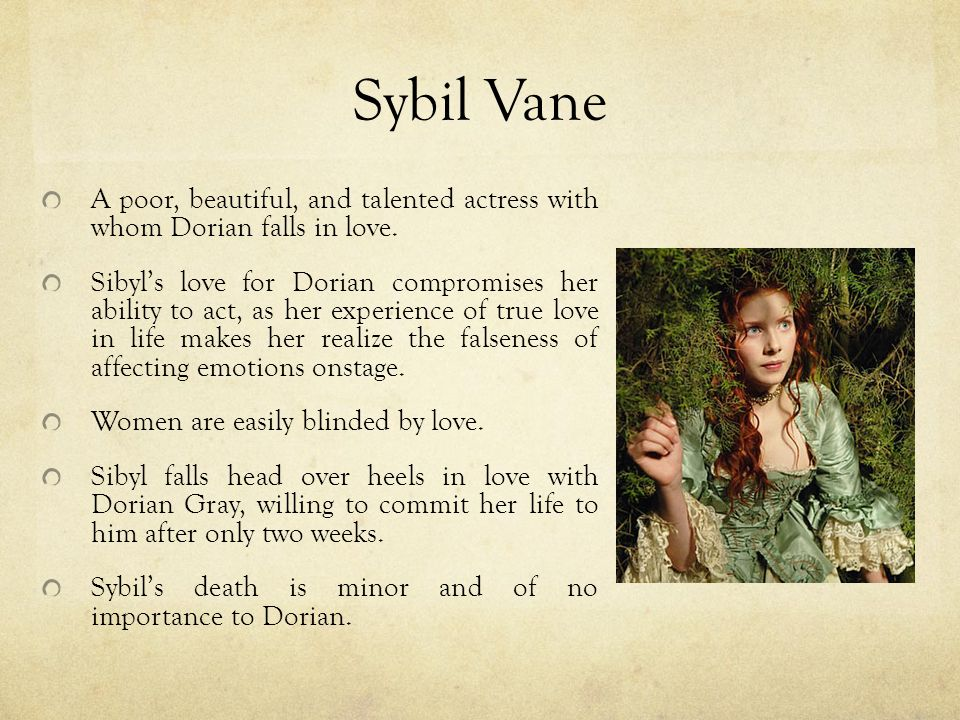 dorian gray and sibyl vane relationship tips