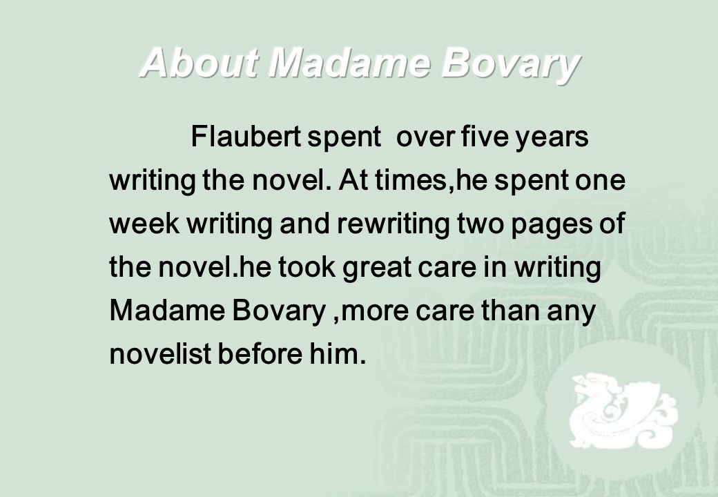 王仕秀 ppt  about madame bovary
