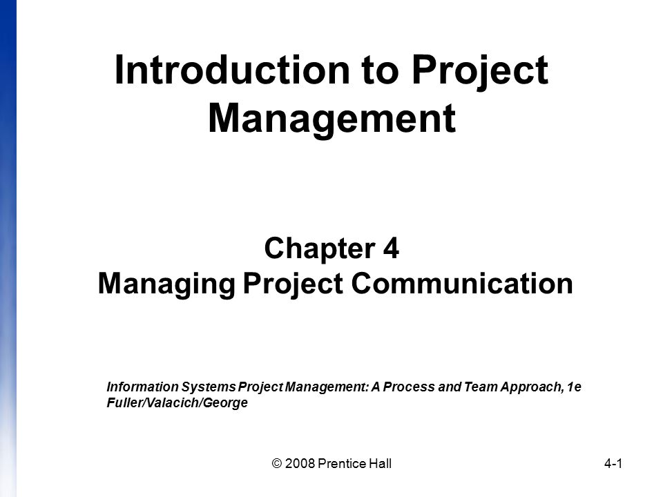 project management chapter 2 Project management is the practice of initiating, planning, executing, controlling, and closing the work of a team to achieve specific goals and meet specific success criteria at the specified time.