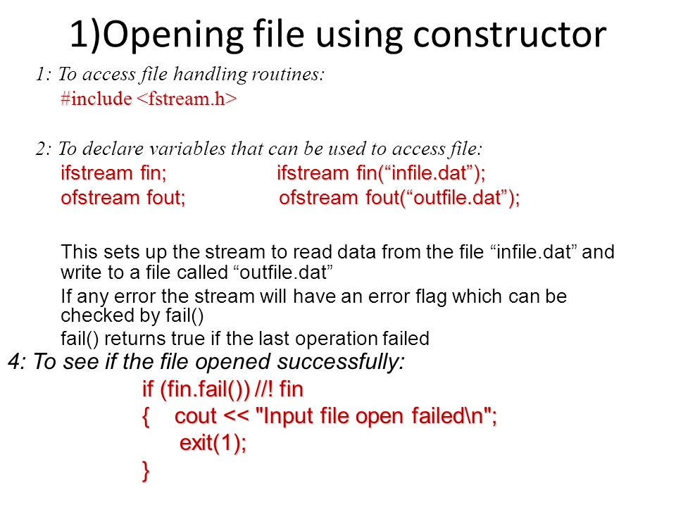how to open a dat file c++