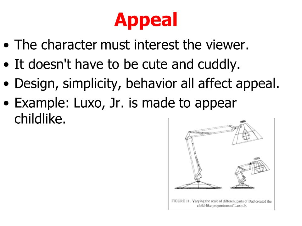 Character Design Appeal : Animation d ppt download