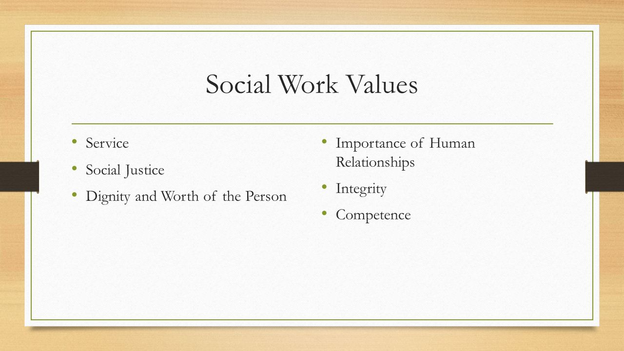 a discussion on social justice and the role of social work Work's core values of service, social justice conflicting roles (for example, when a social worker the nasw code of ethics social work.