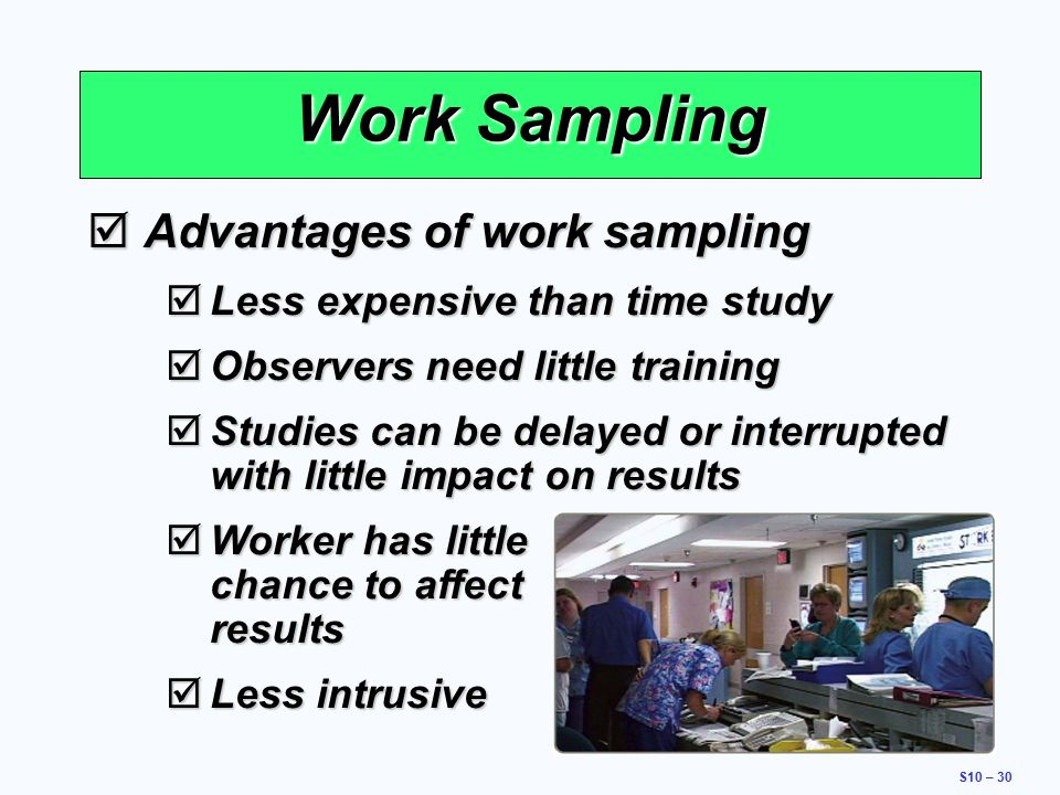 Work Sampling: Definition, Theory and Confidence Level of ...