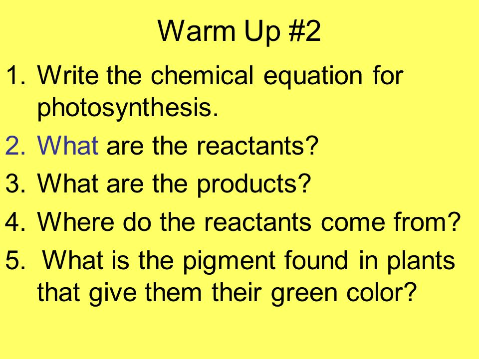 write the equation for photosynthesis The balanced equation for photosynthesis is: 6co2 + 6h2o + sunlight energy = c6h12o6 + 6o2 photosynthesis can be represented using a chemical equation: carbon dioxide + water + light energy gives a carbohydrate + oxygen every living organism needs energy to survive, and photosynthesis is how plants .