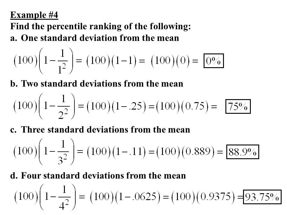 Describing location in a distribution ppt download example 4 find the percentile ranking of the following one standard deviation from the ccuart Image collections