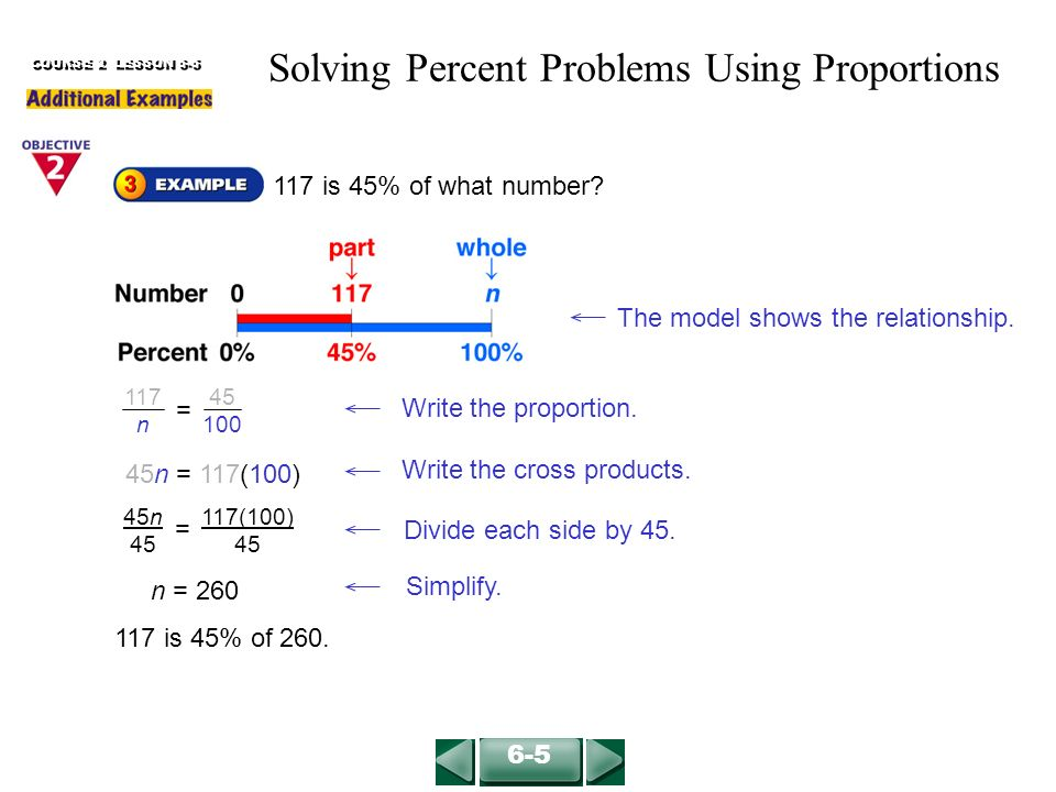 Problem Solving In Percentage