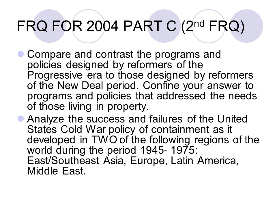 frq the cold war era Cold war, the open yet restricted rivalry that developed after world war ii between the united states and the soviet union and their respective allies the cold war was waged on political, economic, and propaganda fronts and had only limited recourse to weapons the term was first used by the.
