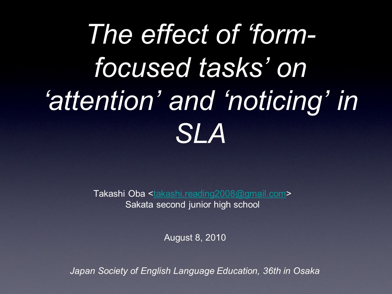 noticing in sla is it a This article focuses on the role of noticing and noticing the gap in second language acquisition it is argued that this notion has gained wide support on the basis of intuition and assumption rather than on the findings of appropriate and exhaustive empirical research the aim of this paper is twofold: a) to consider the.