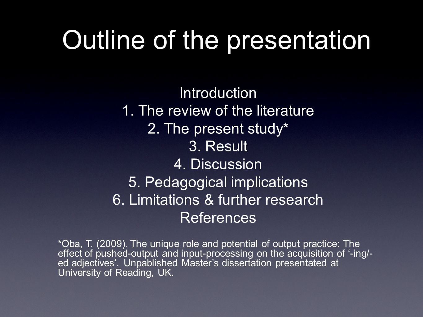 masters dissertation limitations Action research in mathematics education: this dissertation has been read by each member of the dissertation committee and limitations of the study.