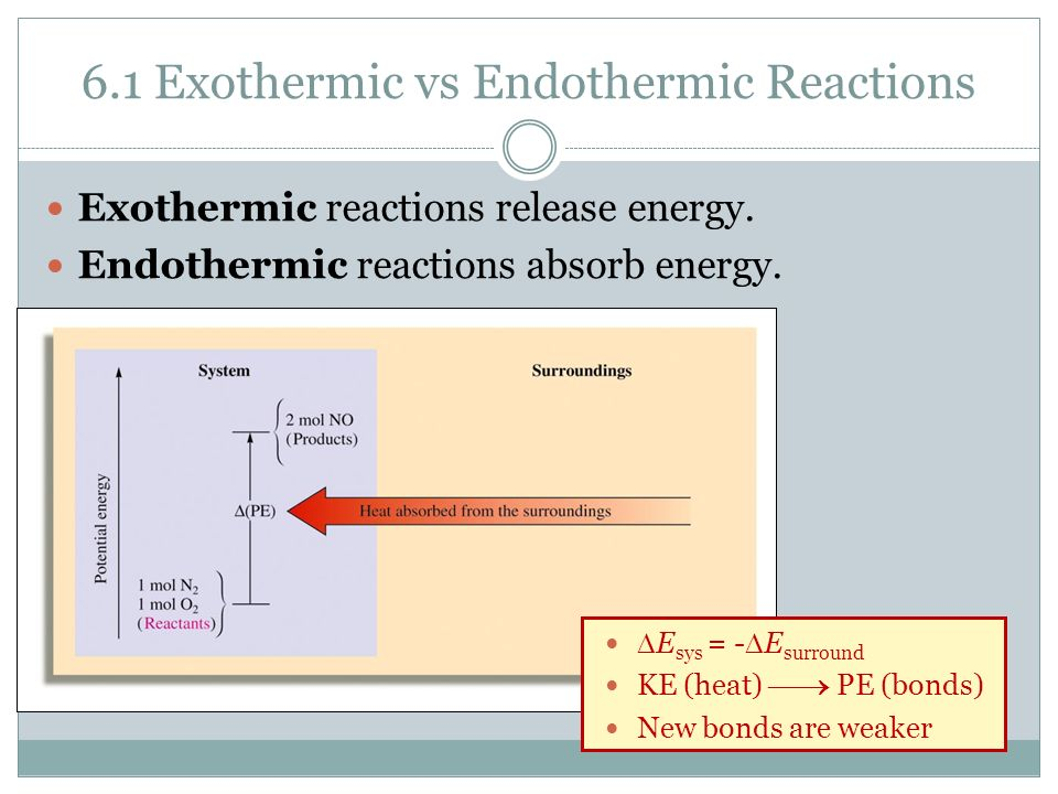 Difference Between Exothermic and Endothermic