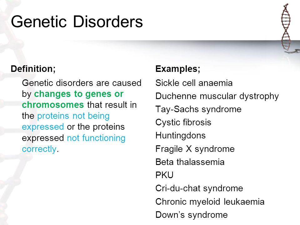 a description of down syndrome as a chromosomal disorder It causes a mutation in the number of chromosomes can cause chromosomal disorders, such as trisomy 21 (down syndrome) why does nondisjunction cause mutation.
