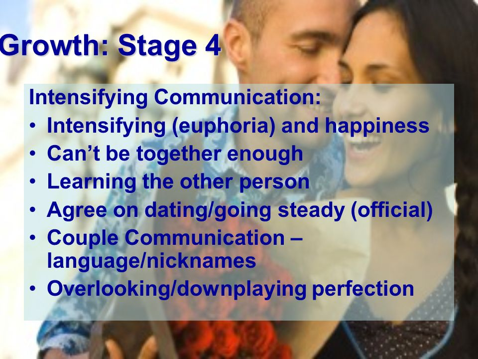 intensifying stage of relationship development intervention