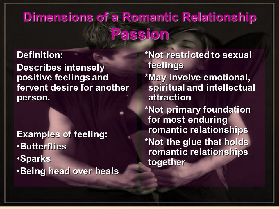 operational definition of romantic relationship