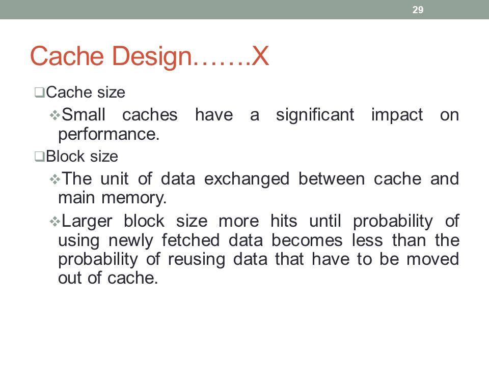 how to know the size of cache block