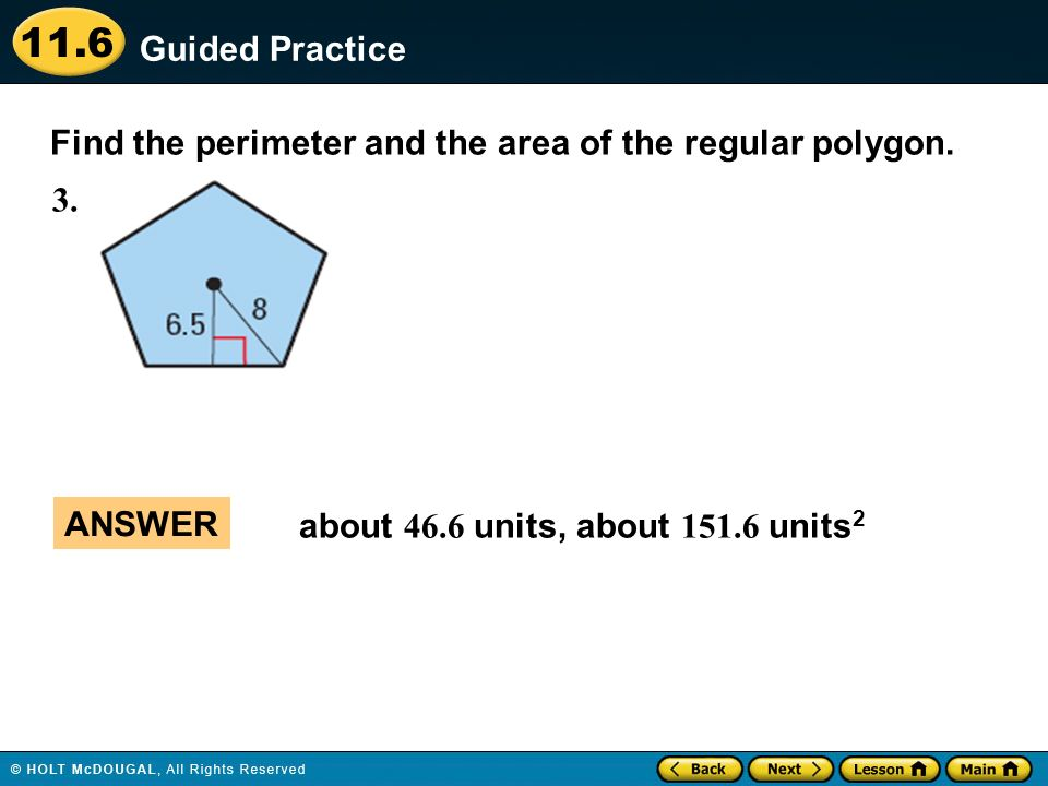 Areas of Regular Polygons - ppt download