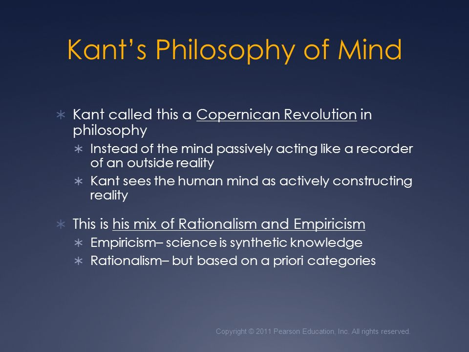 kant s copernican revolution The copernican shift and theory of knowledge in immanuel kant and  kant's copernican revolution establishing grounds from.