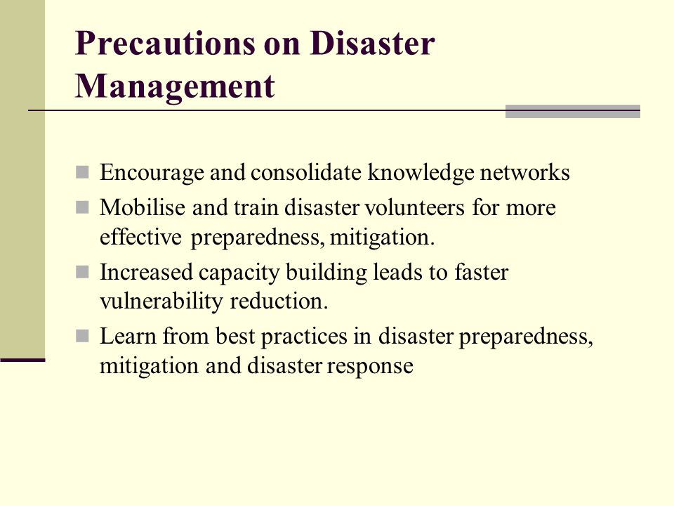 disaster management and mitigation ppt video online  precautions on disaster management