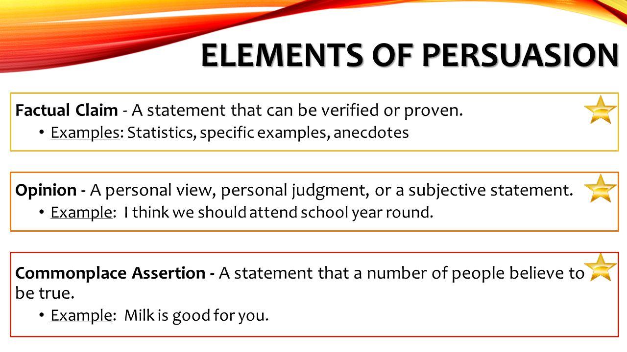 elements of persuasion