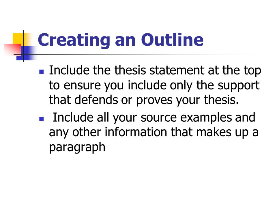 outlining strategies creating an outline
