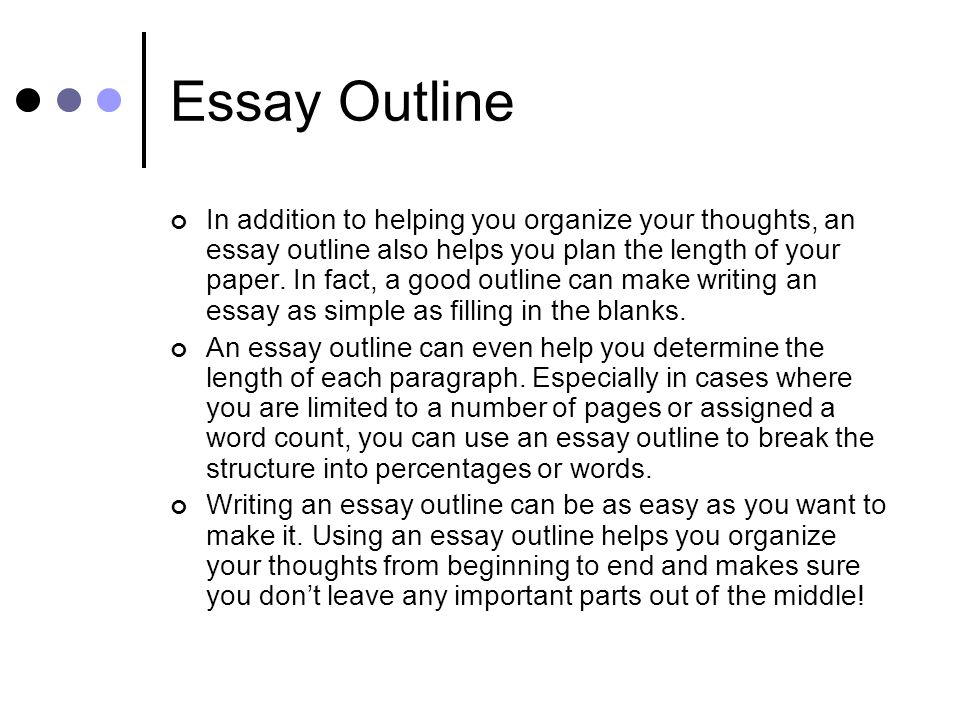 essay outline help