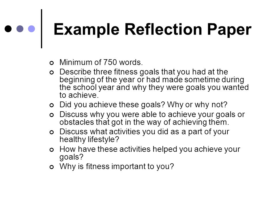 how to write a reflection paper in apa format