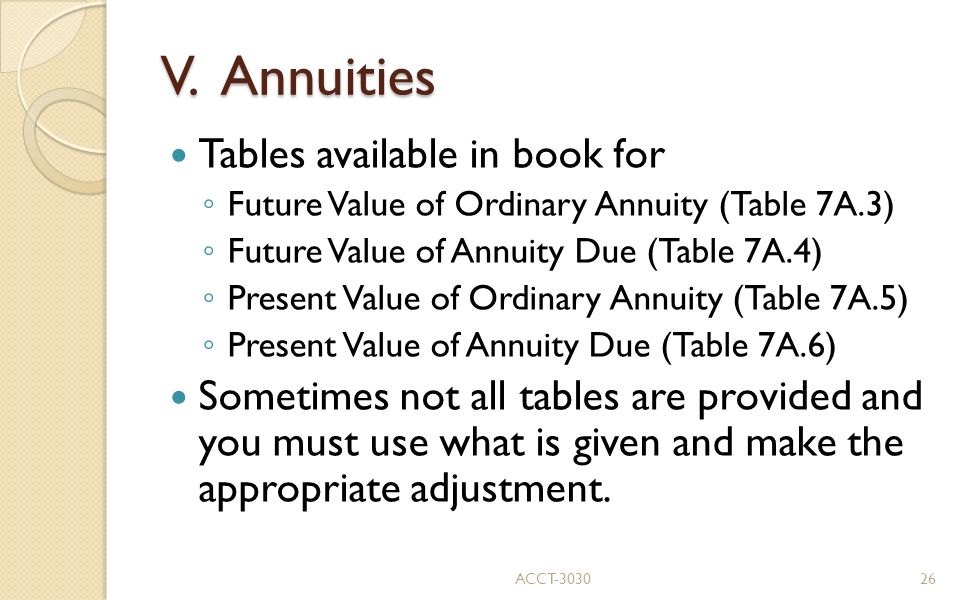 Accounting and the time value of money ppt video online for Table 6 4 present value of an ordinary annuity of 1