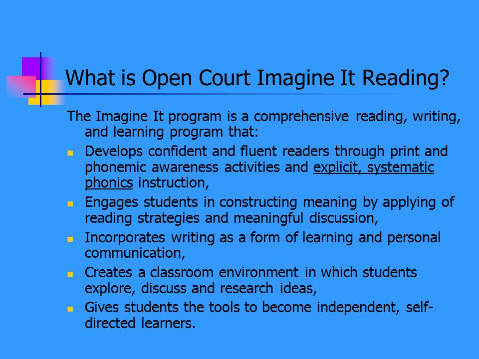 What is Open Court Imagine It Reading