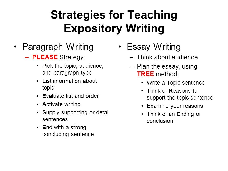 teaching expository essay This writing workshop mini-lesson provides examples of different types of leads in expository barry lane leads in expository writing or in this essay i.